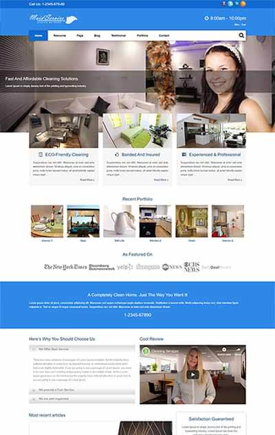 Maid Service WordPress Theme