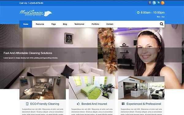 Maid Service WordPress Theme