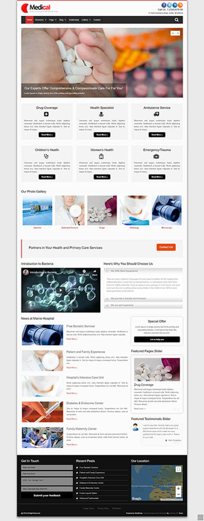 Medical WORDPRESS THEME Full Demo
