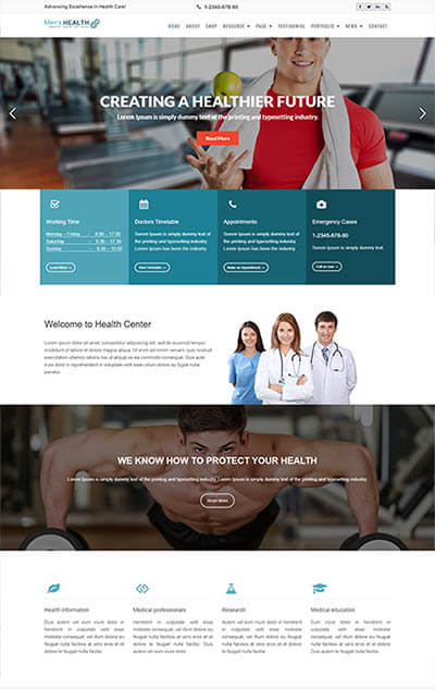 Men's Health WordPress Theme – Health & Medical Template