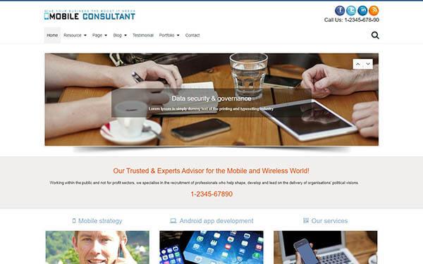 Mobile Consultant WordPress Theme