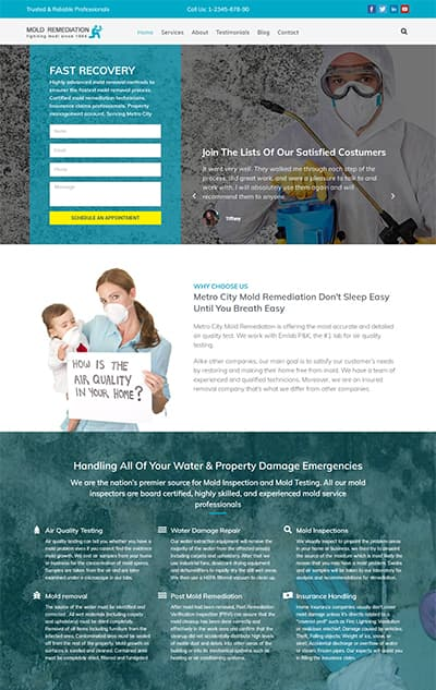Mold Remediation Services WordPress Theme