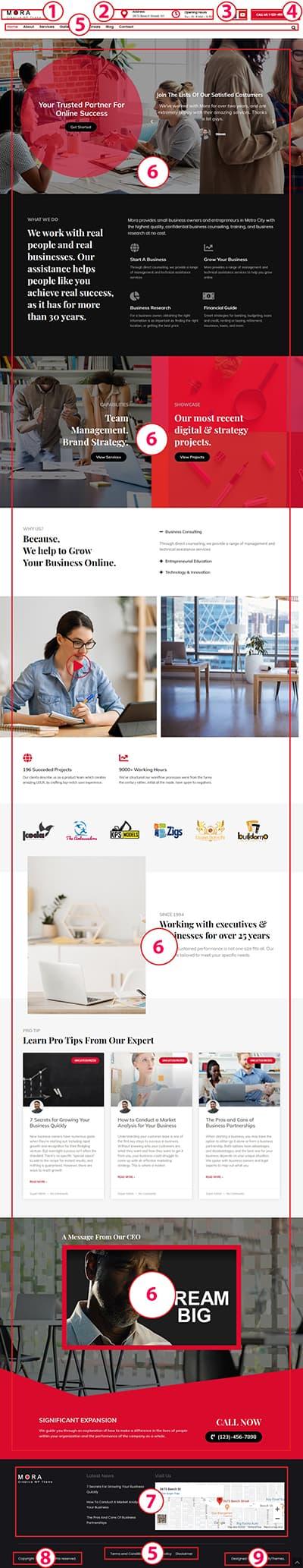 Mora Creative WordPress Theme  #1 Premium Theme Documentation