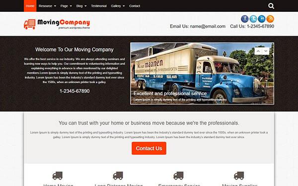 Moving Company WordPress Theme