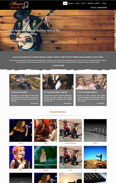 Music Teacher WordPress Theme
