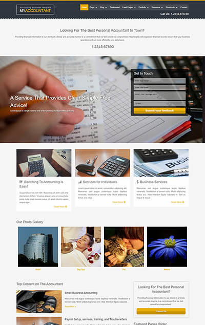MyAccountant – Accounting WordPress Theme
