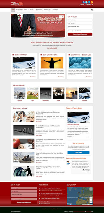 OfflineBiz WORDPRESS THEME Full Demo