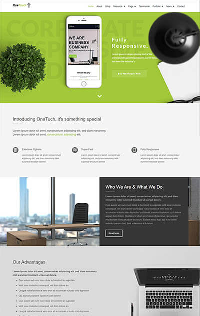 OneTouch – Multi-Purpose WordPress Theme