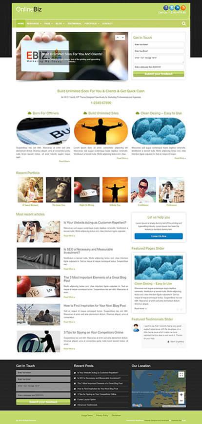 OnlineBiz WORDPRESS THEME Full Demo