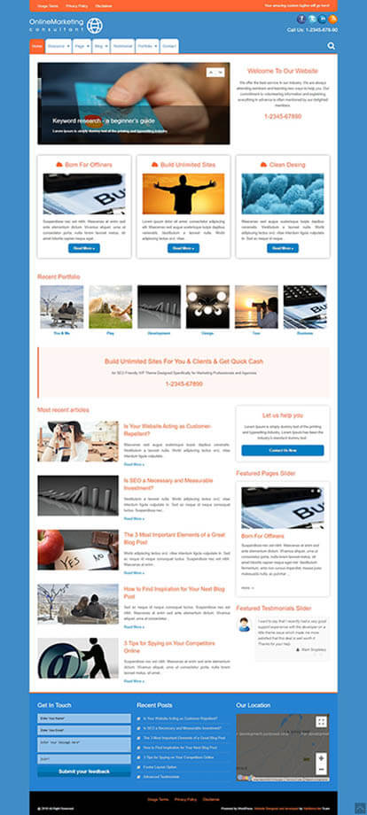 Online Marketing WORDPRESS THEME Full Demo