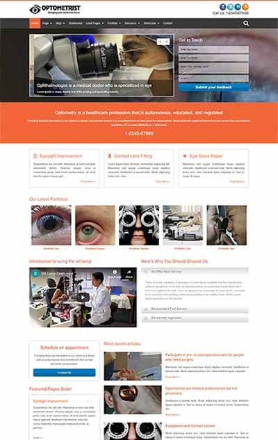 Optometrist WordPress Theme