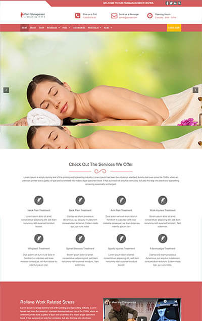 Pain Management WordPress Theme – Physiotherapy & Health Template