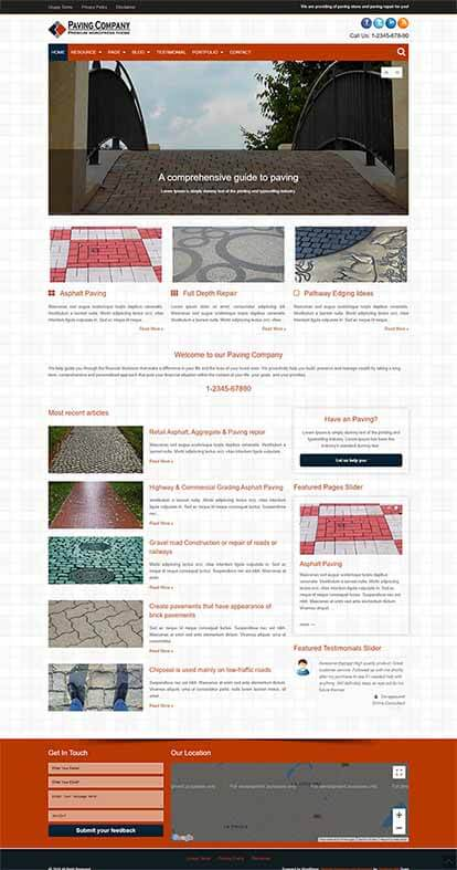 Paving Company WORDPRESS THEME Full Demo
