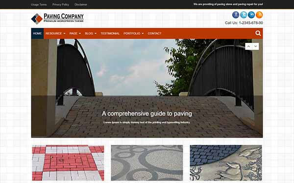 Paving Company WordPress Theme