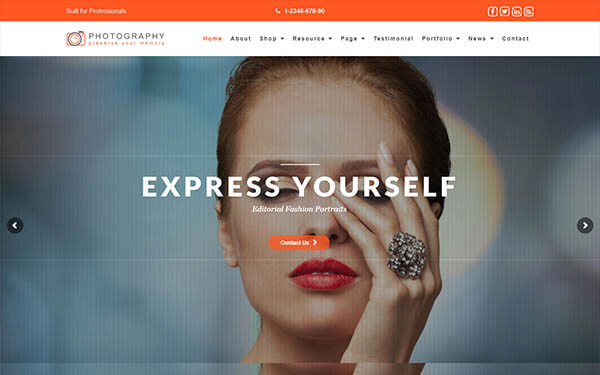 Photography Responsive WordPress Theme