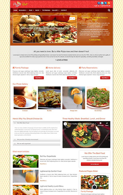 PizzaHat Restaurant Theme