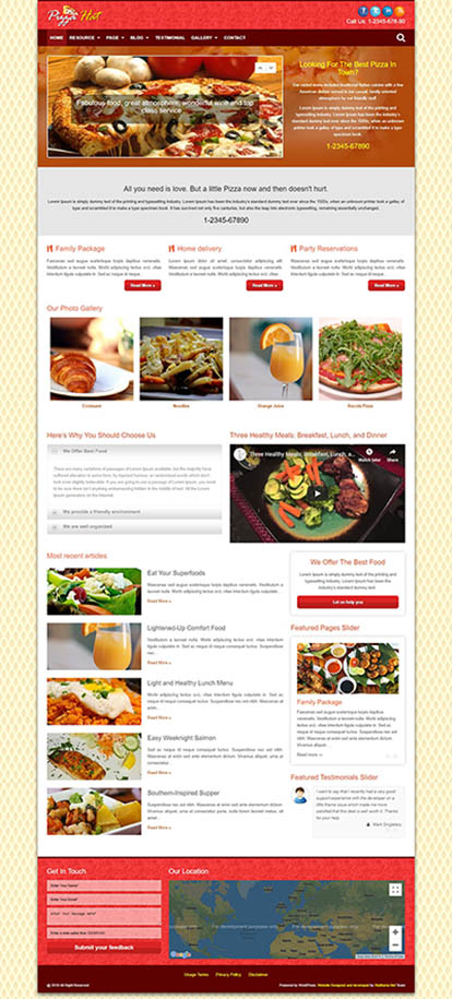 PizzaHat WORDPRESS THEME Full Demo