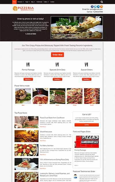 Pizzeria WordPress Theme