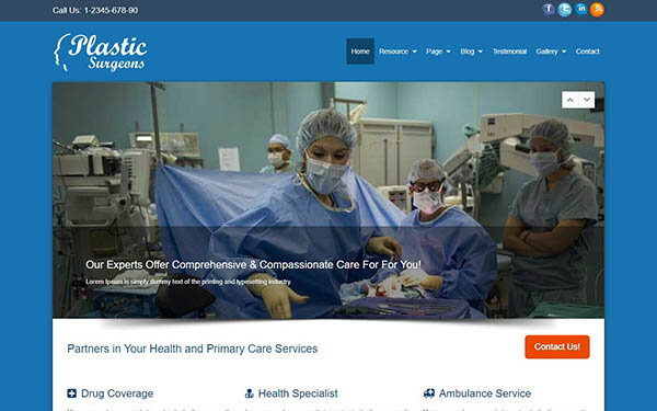 Plastic Surgeons WordPress Theme
