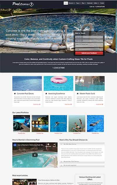 Pool Company WordPress Theme