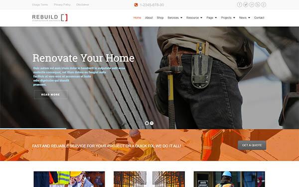Rebuild – Construction & Renovation WordPress Theme