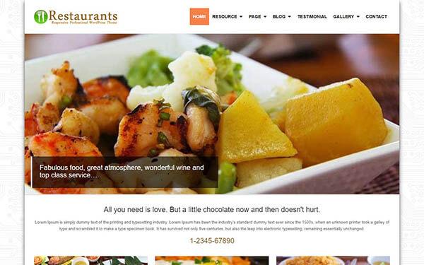 Restaurants WordPress Theme