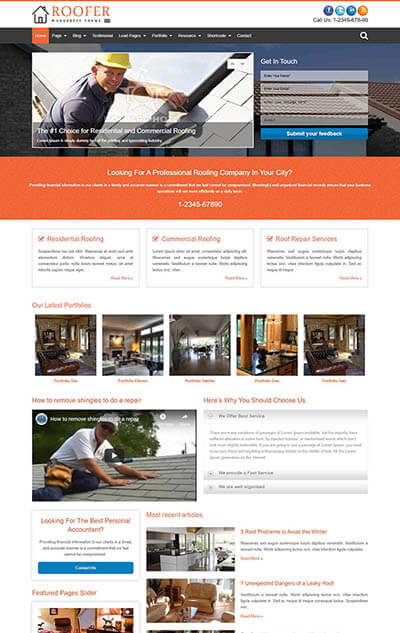 Roofer WordPress Theme