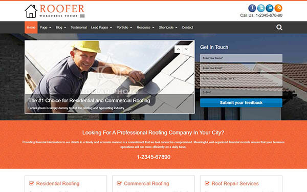 Roofer WordPress Theme