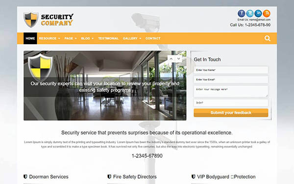 Security Company WordPress Theme