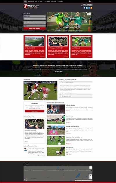 Soccer Club WordPress Theme