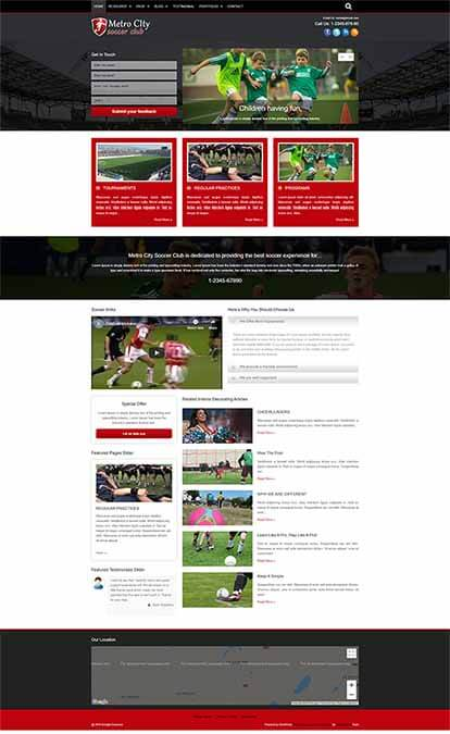 Soccer Club WORDPRESS THEME Full Demo