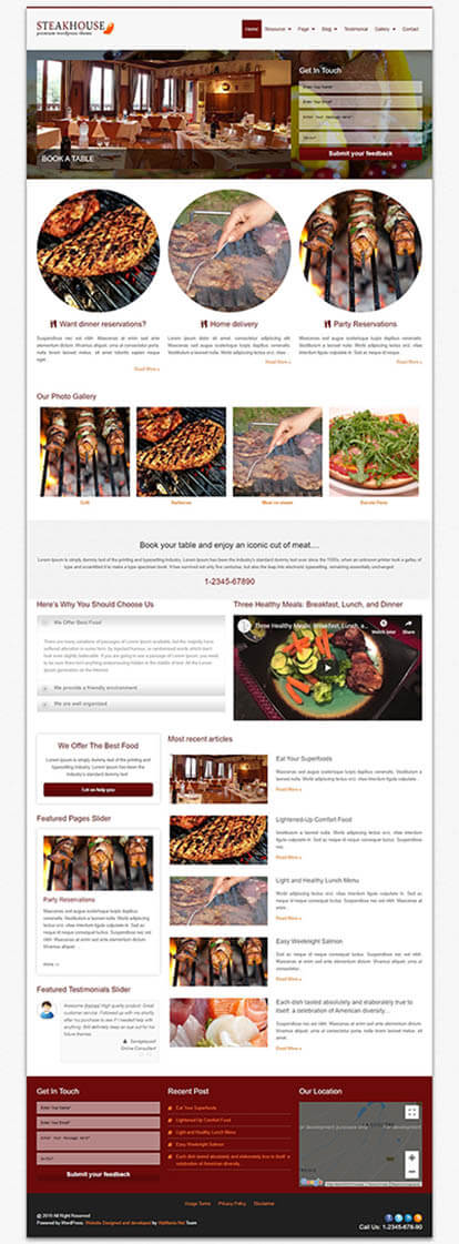 SteakHouse WORDPRESS THEME Full Demo