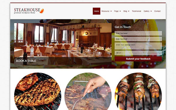 SteakHouse WordPress Theme
