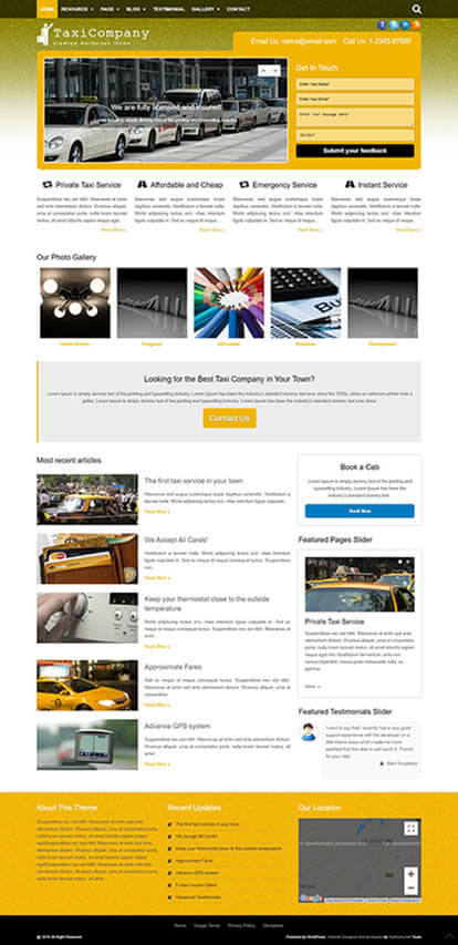 Taxi Company WORDPRESS THEME Full Demo