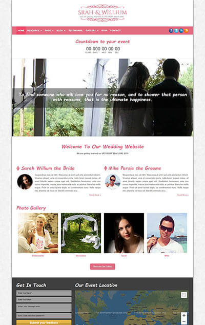 TheBond Wedding WordPress Theme