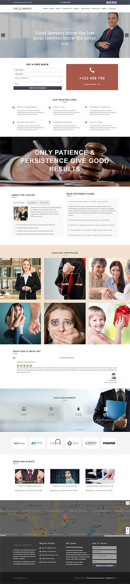 The Lawyer WORDPRESS THEME Full Demo