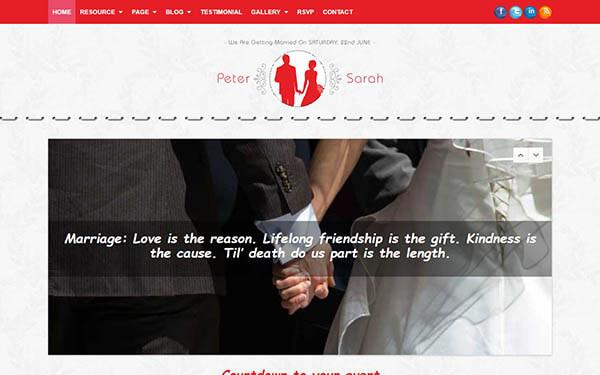 TheUnion Wedding WordPress Theme