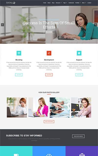 Total Multi-Purpose WordPress Theme | Corporate Website Template