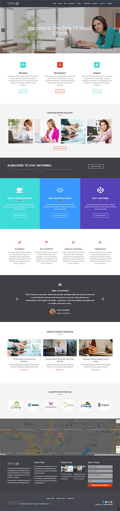 Total WORDPRESS THEME Full Demo