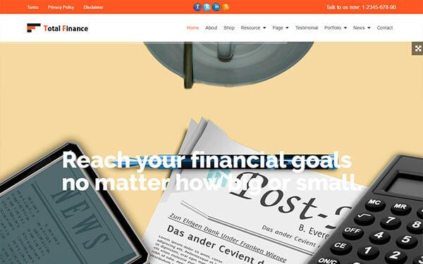 TotalFinance Multi-Purpose WordPress Theme