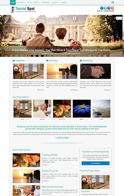 TouristSpot Travel WordPress Theme