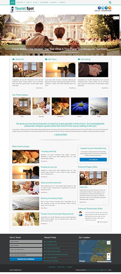 TouristSpot WORDPRESS THEME Full Demo