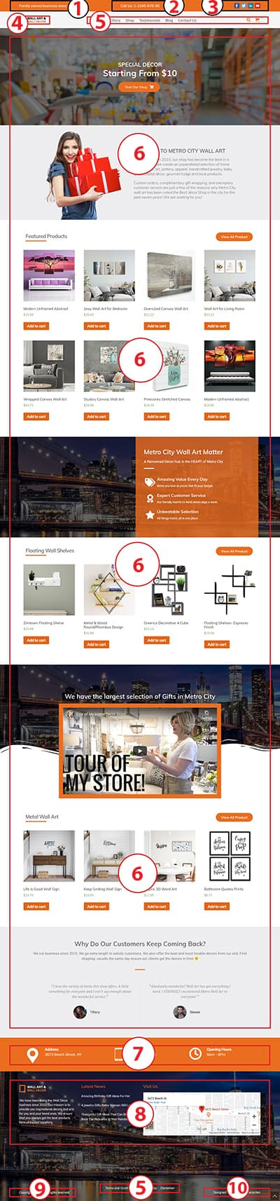 Wall Art – WordPress Theme :  Website Template For Artist Documentation