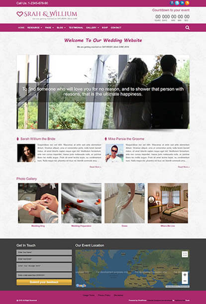 WeddingPlus WORDPRESS THEME Full Demo