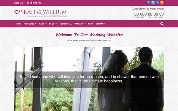 WeddingPlus A Wedding WP Theme