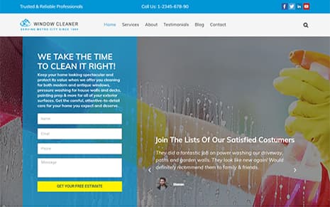 Window Cleaner WordPress Theme
