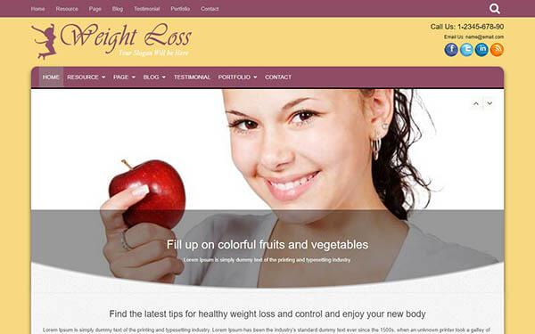 Woman Weight Loss WordPress Theme