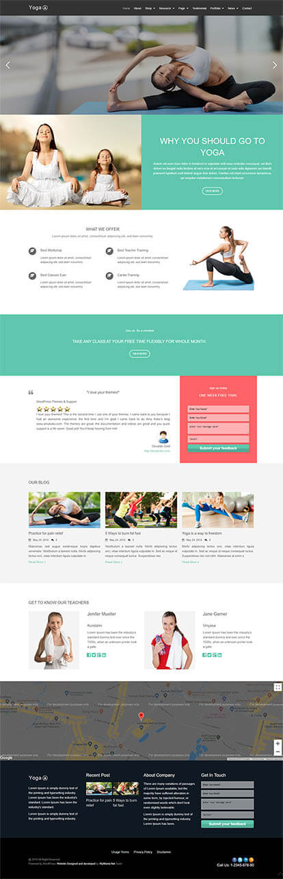 Yoga WORDPRESS THEME Full Demo