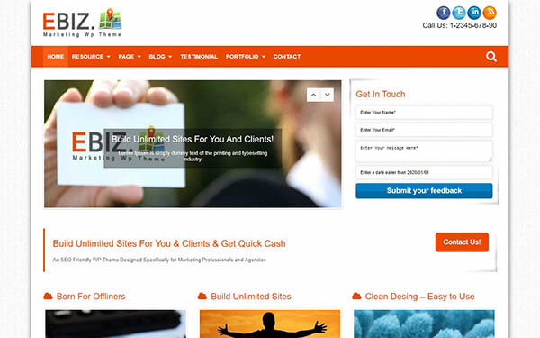 eBiz Marketing WP Theme