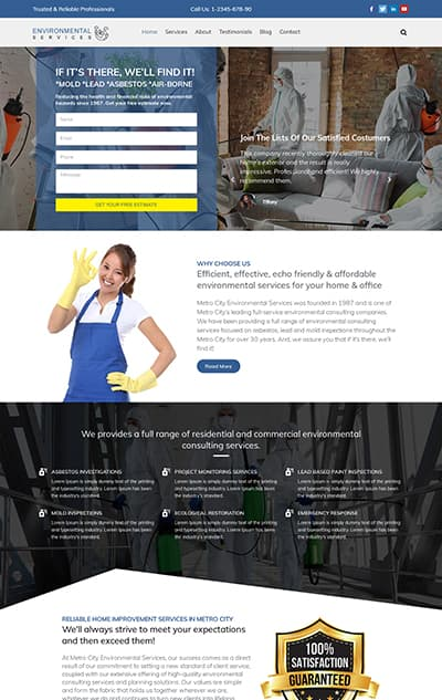 Environmental Services WordPress Theme